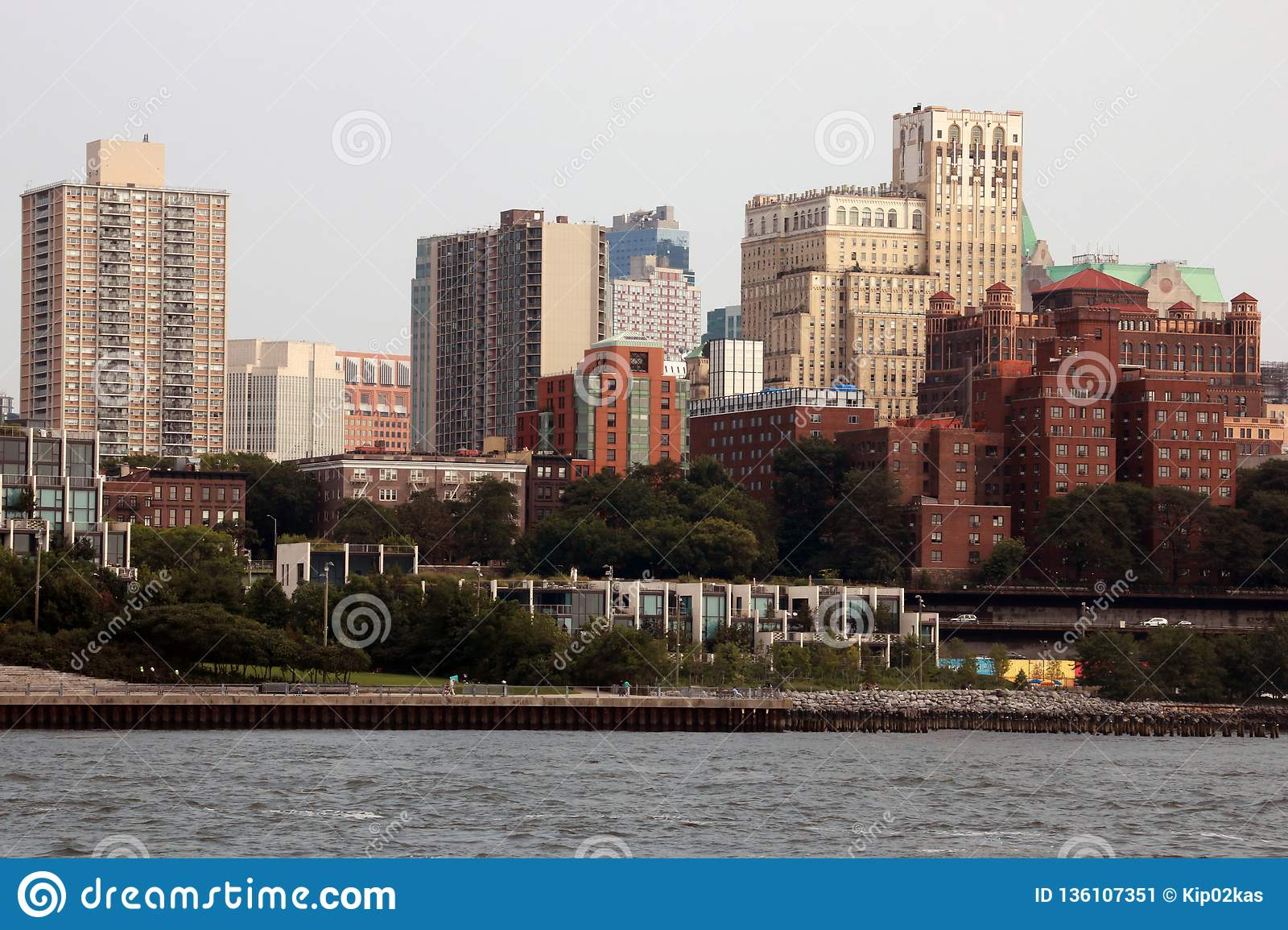 New York, USA - September 2, 2018: Brooklyn is the most populous of New York`s five boroughs. Traditional building in