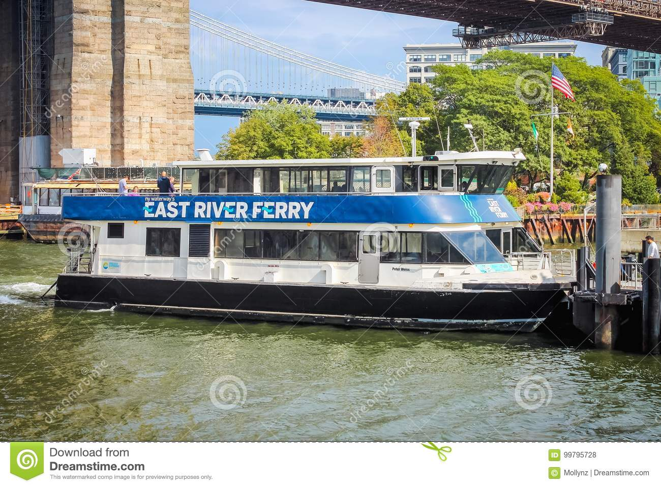 Close Up Image Of The East River Ferry Which Transitioned To