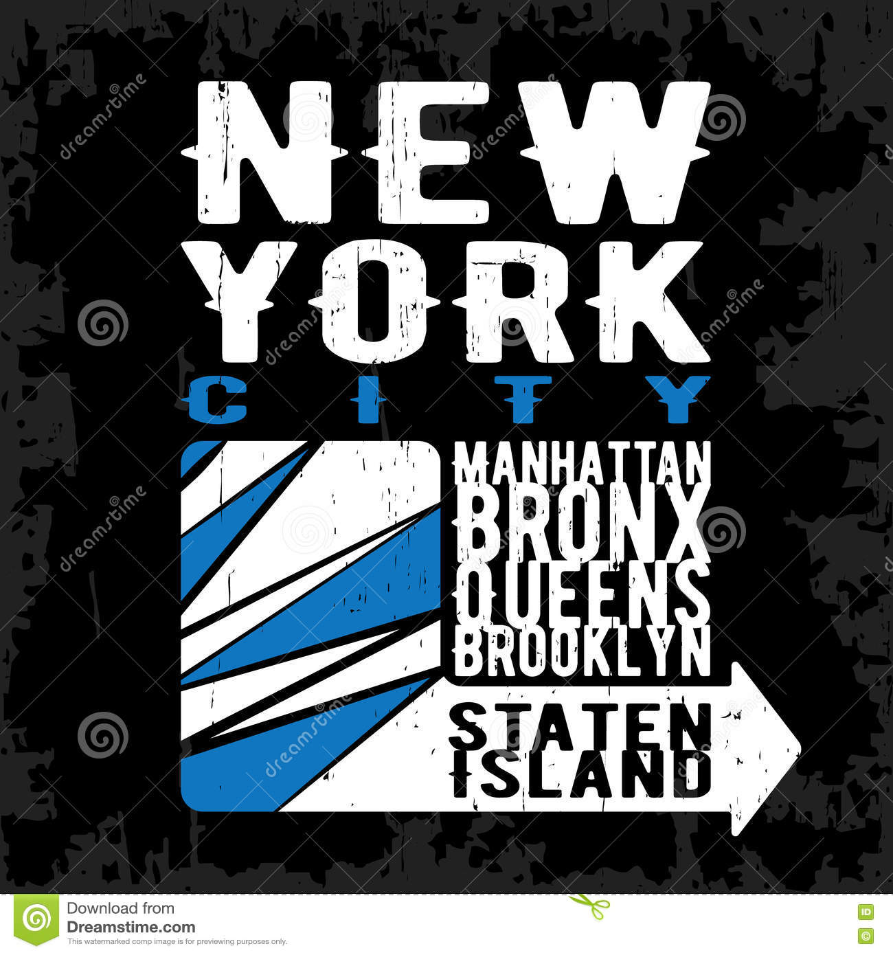New york vintage stamp stock vector image of campus for T shirt printing and labeling