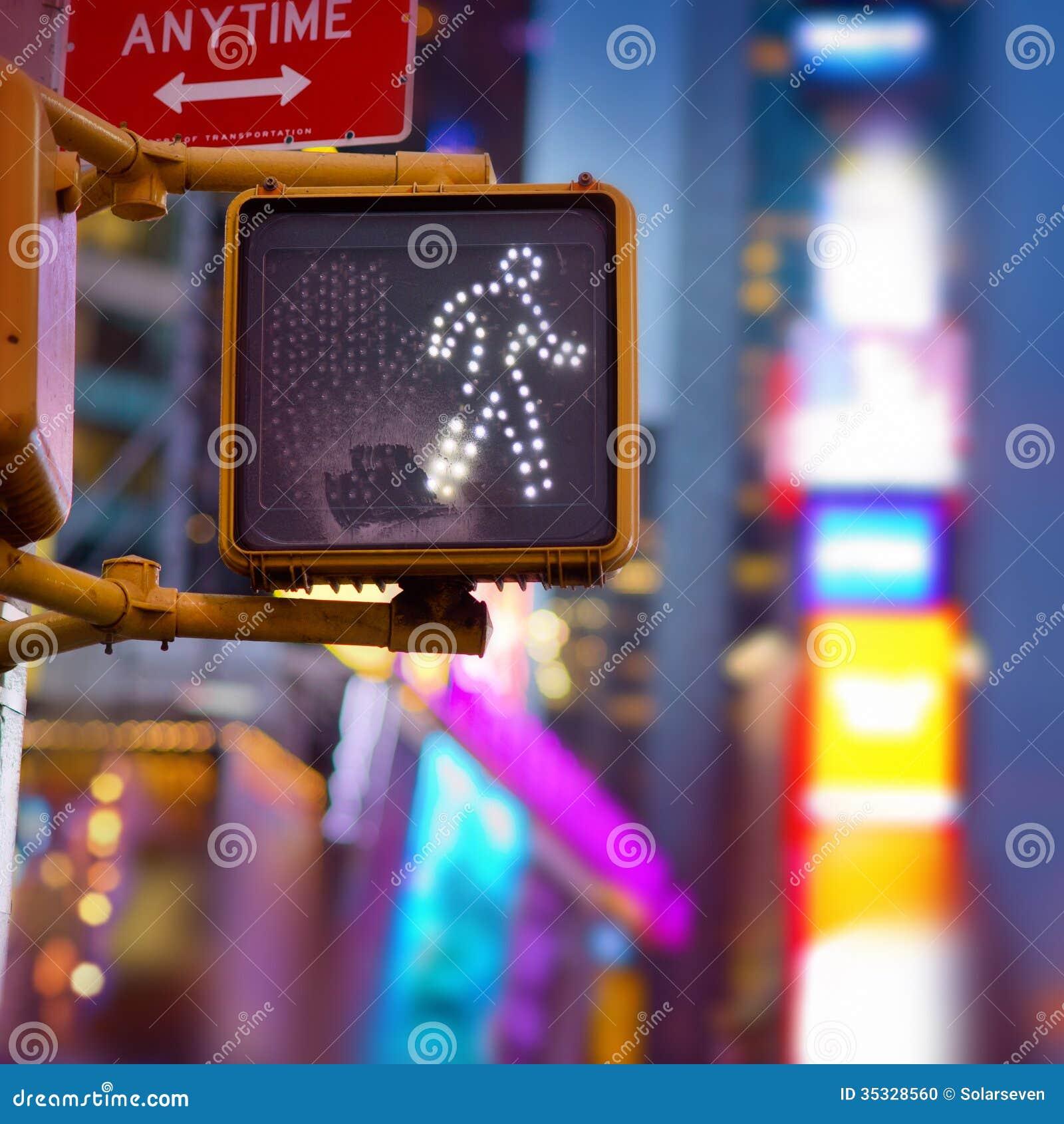 New York Walk Sign
