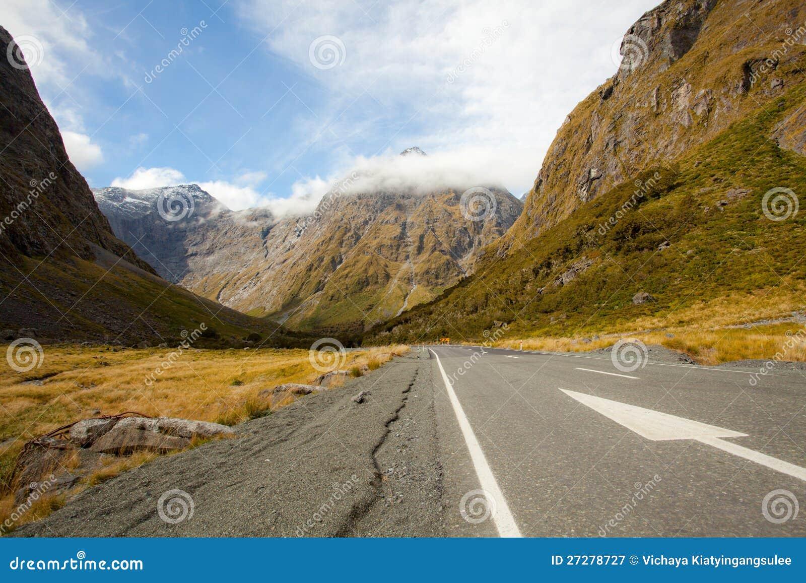 New Zealand Fiordland bergliggande