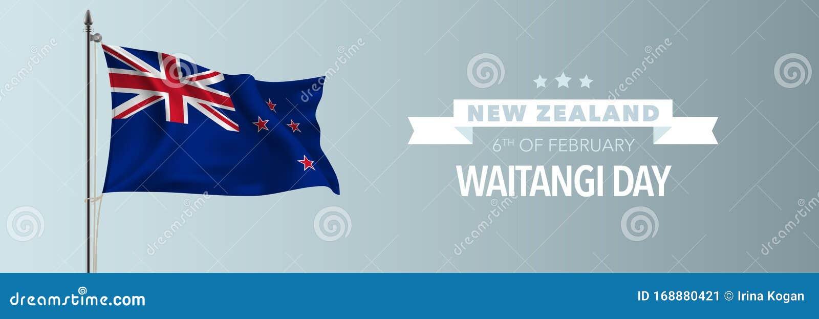 new zealand happy waitangi day greeting card banner