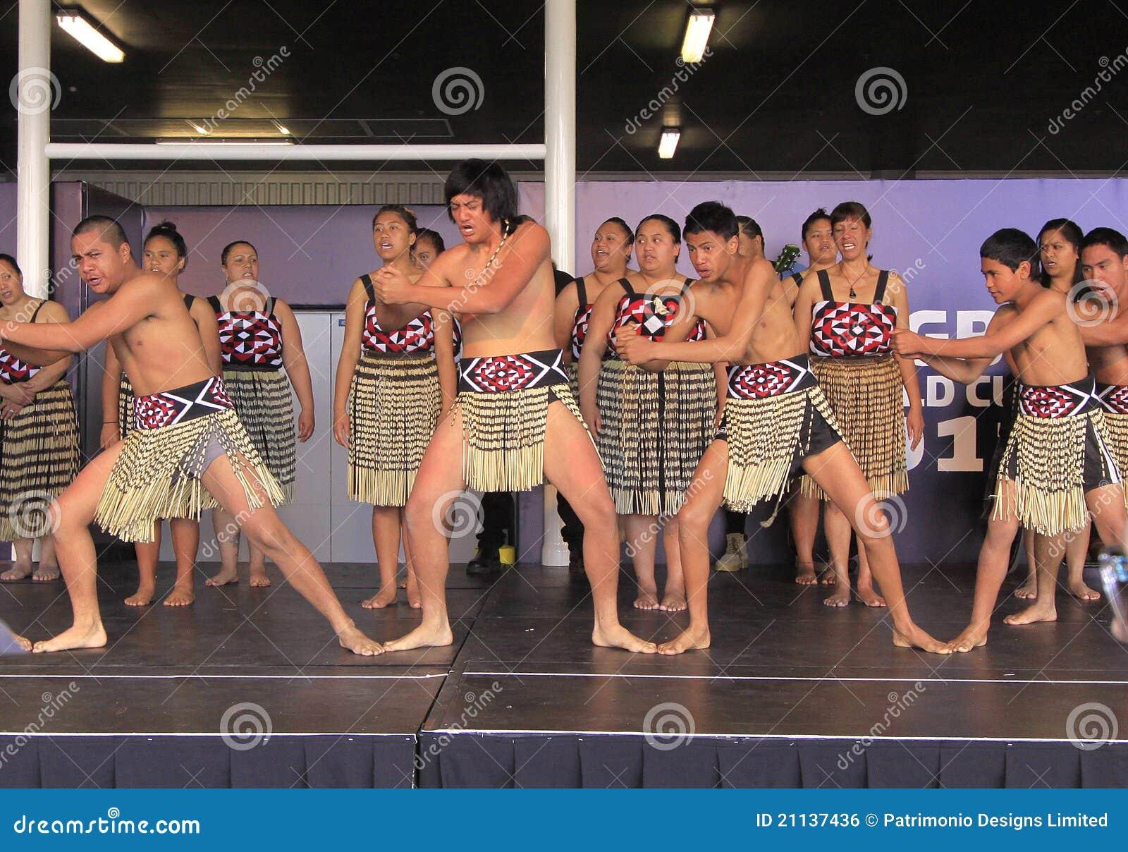 Maori Dancers: New Zealand Maori Perform Haka War Dance Editorial Photo