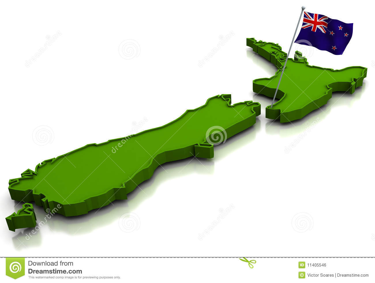 Download New Zealand Map.New Zealand Map And Flag Stock Illustration Illustration Of