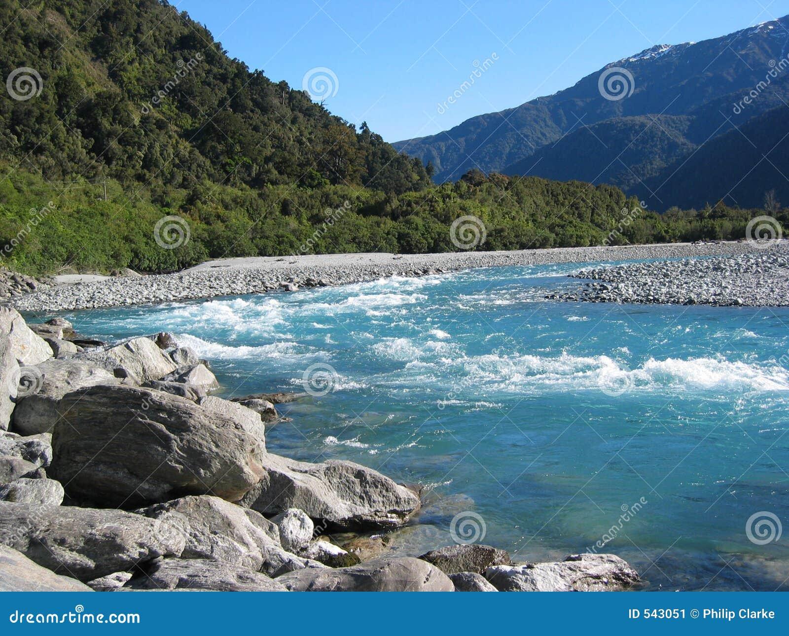 New Zealand Time Image: New Zealand River Stock Image. Image Of Blue, Rocks, River