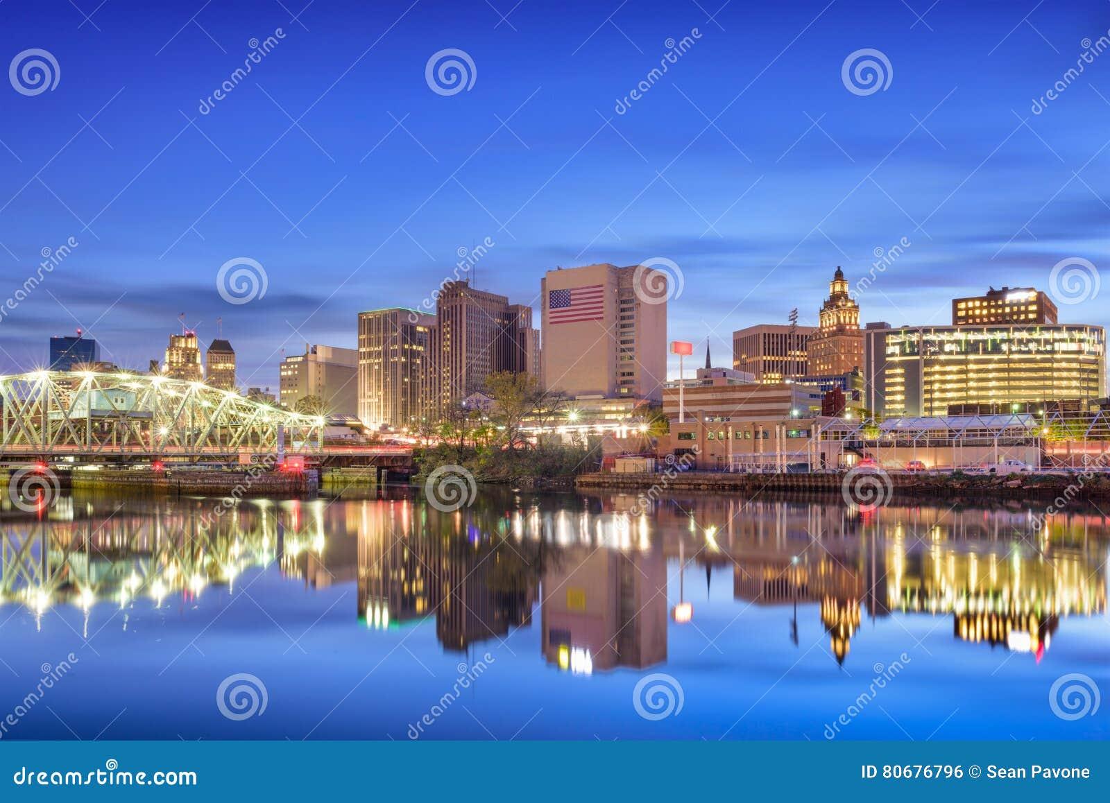 Newark, Horizon De New Jersey Photo stock - Image du ville