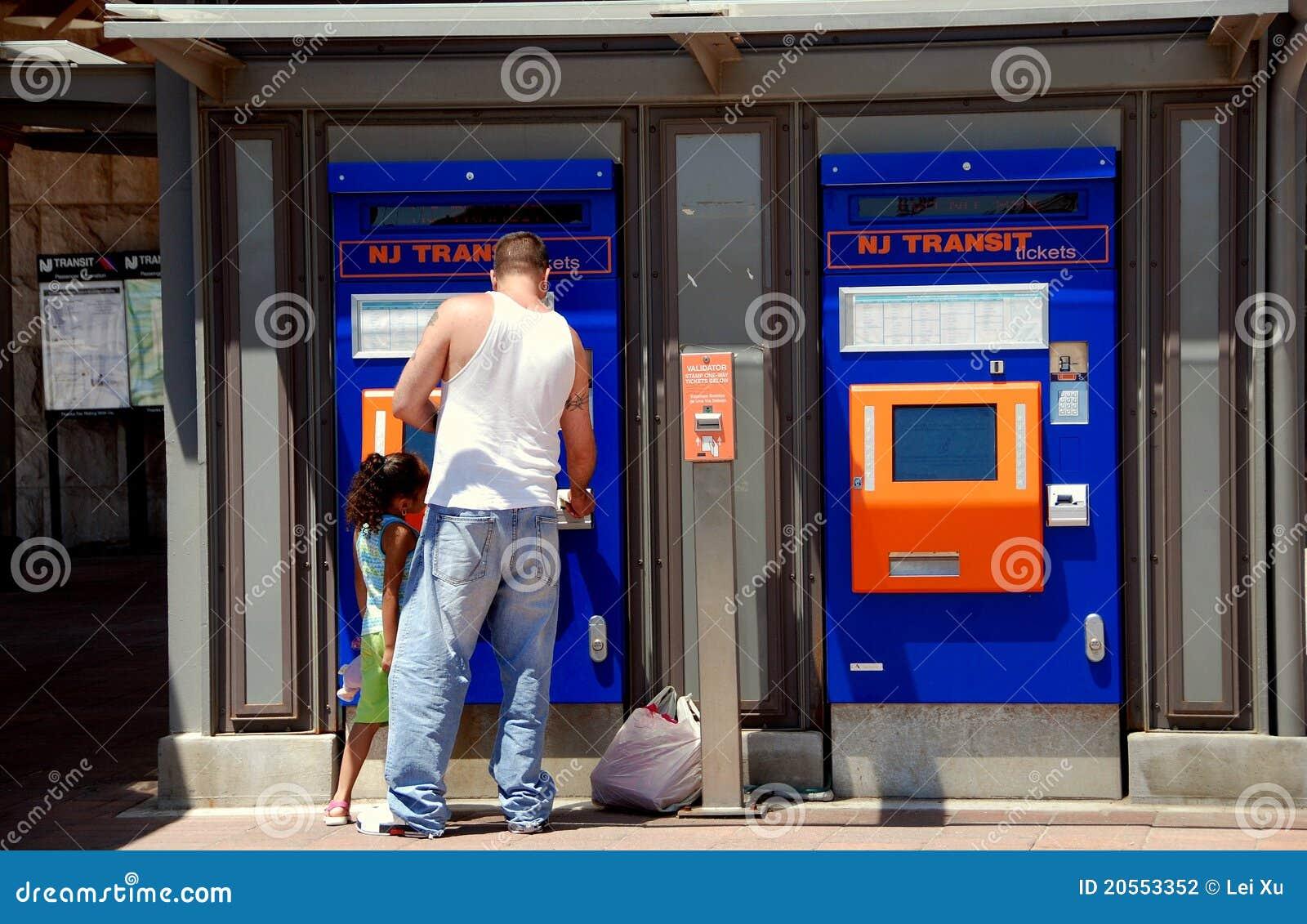Newark Nj Nj Transit Ticketing Machines Editorial