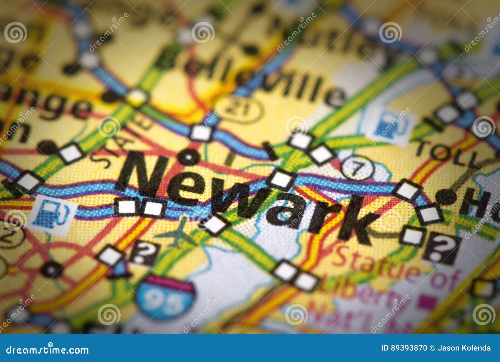Newark, Nowy - bydło na mapie