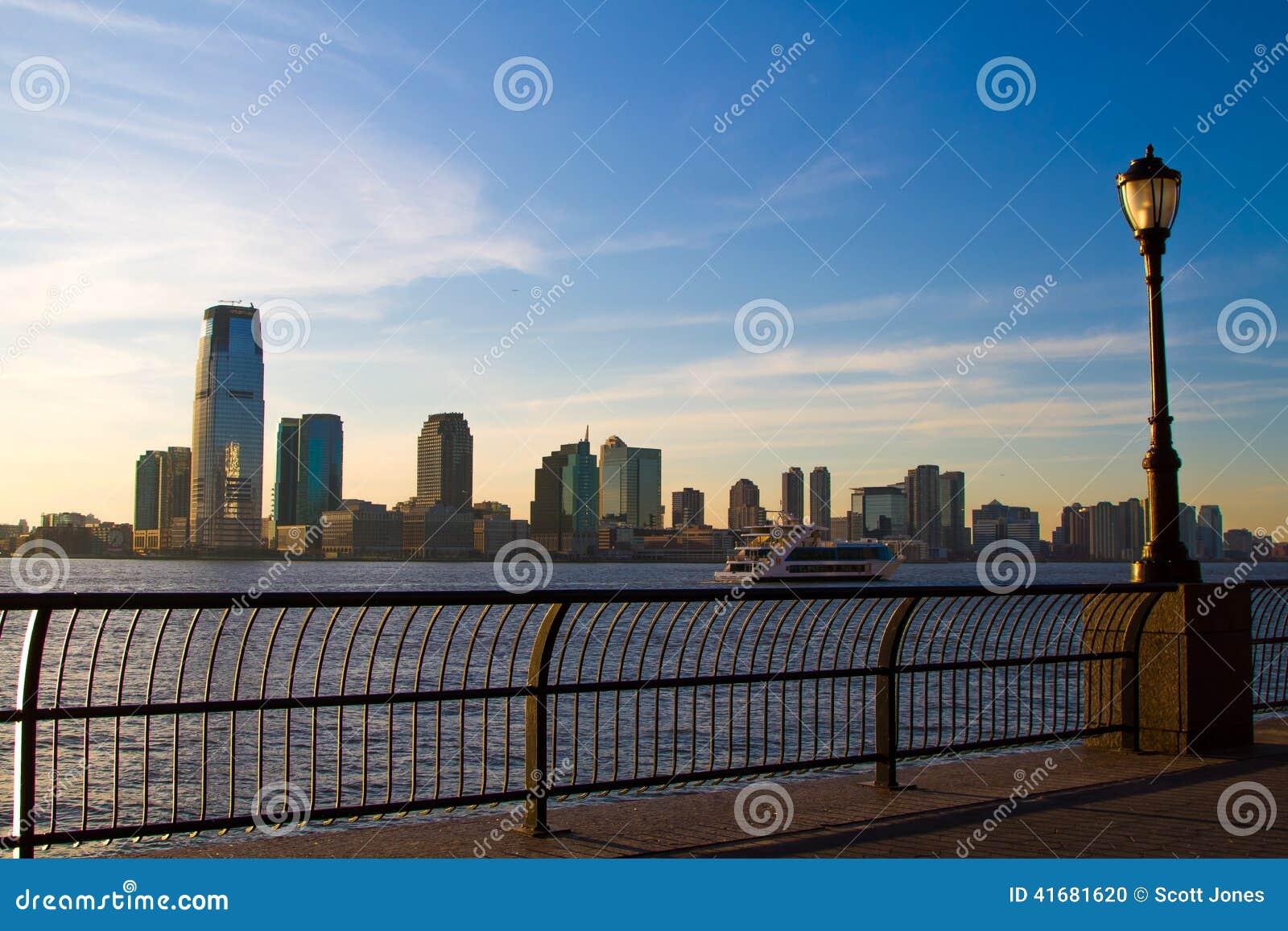 Newark Skyline stock photo  Image of sunset, city, skyline