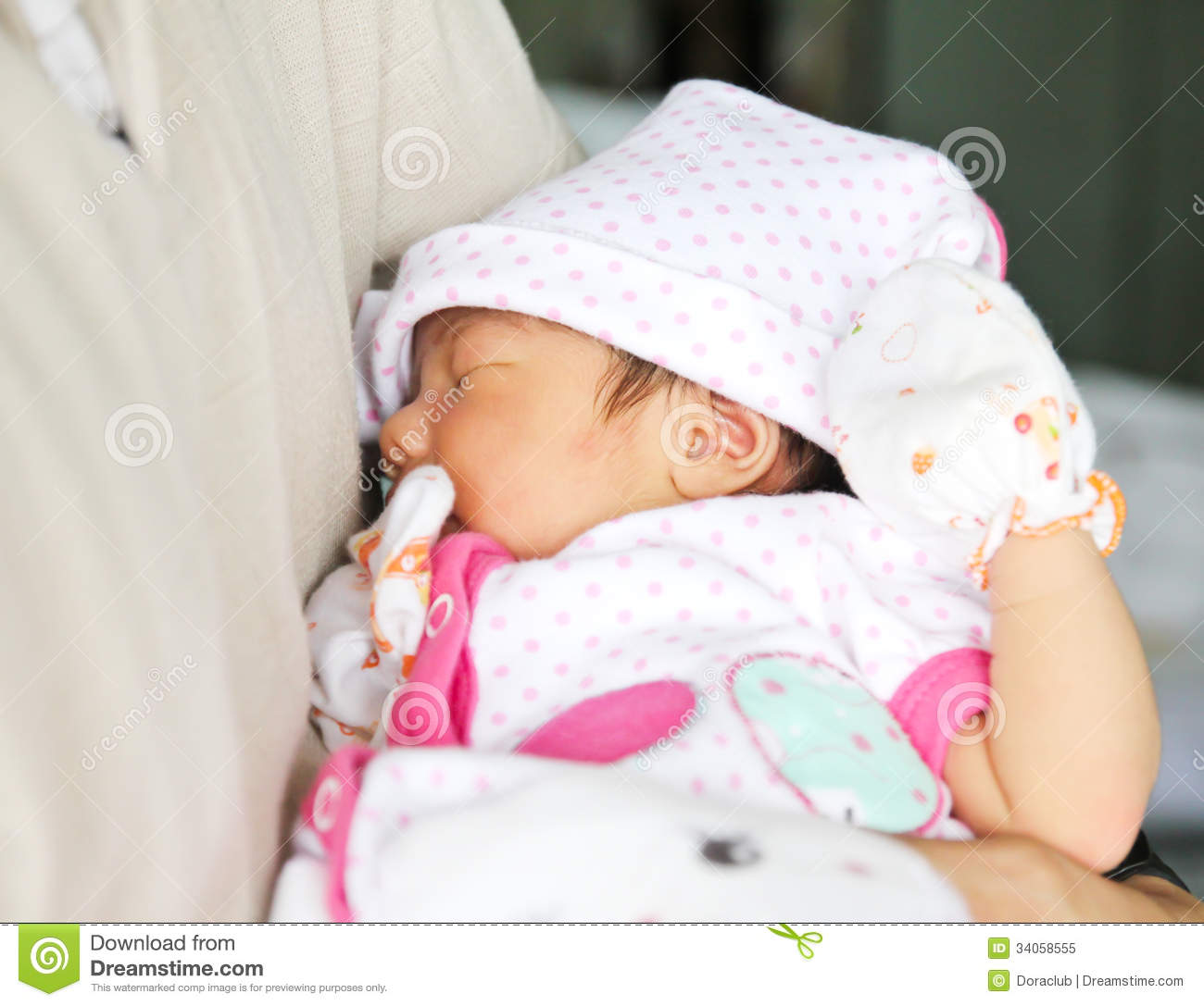 Newborn Asian Baby Girl Royalty Free Stock Photo - Image ...