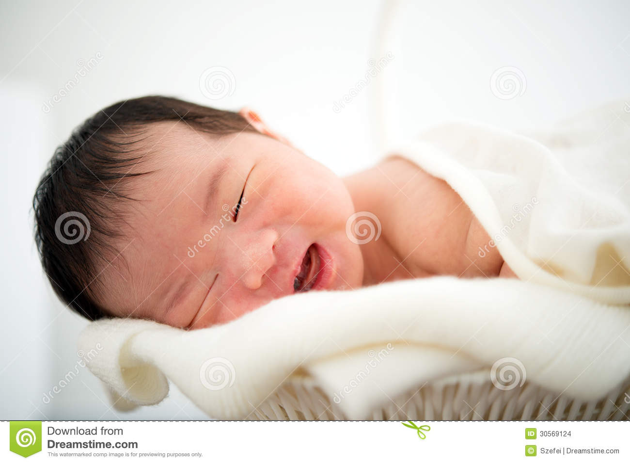 Newborn Asian Baby Girl Smiling Stock Images - Image: 30569124