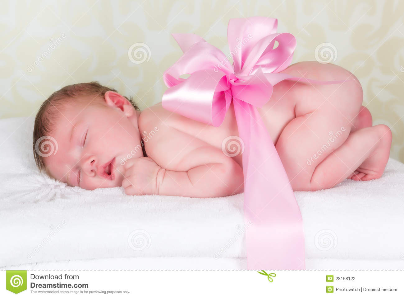 Newborn Baby As A Gift Stock Photography Image 28158122