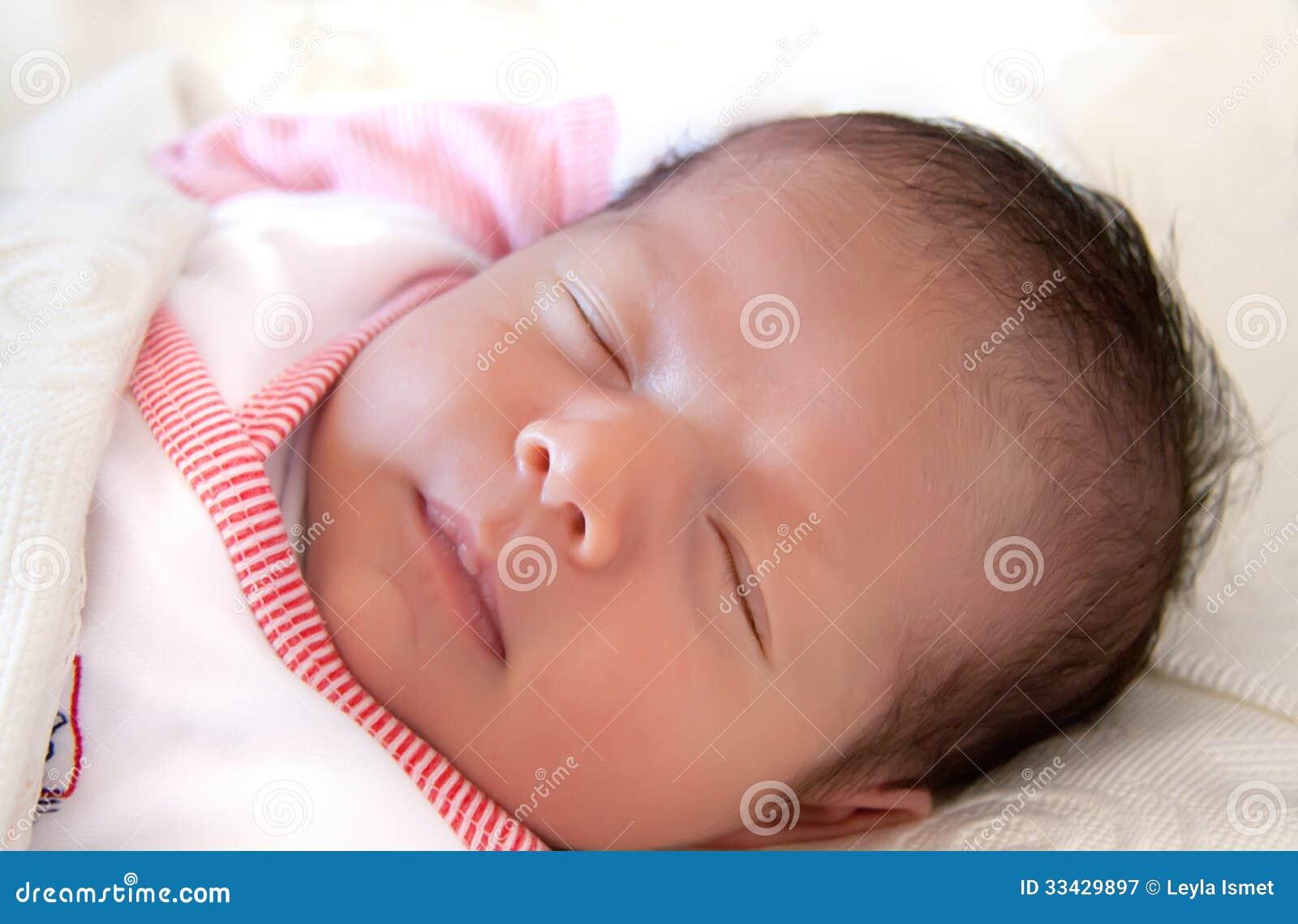 Newborn baby boy asleep stock photo. Image of human