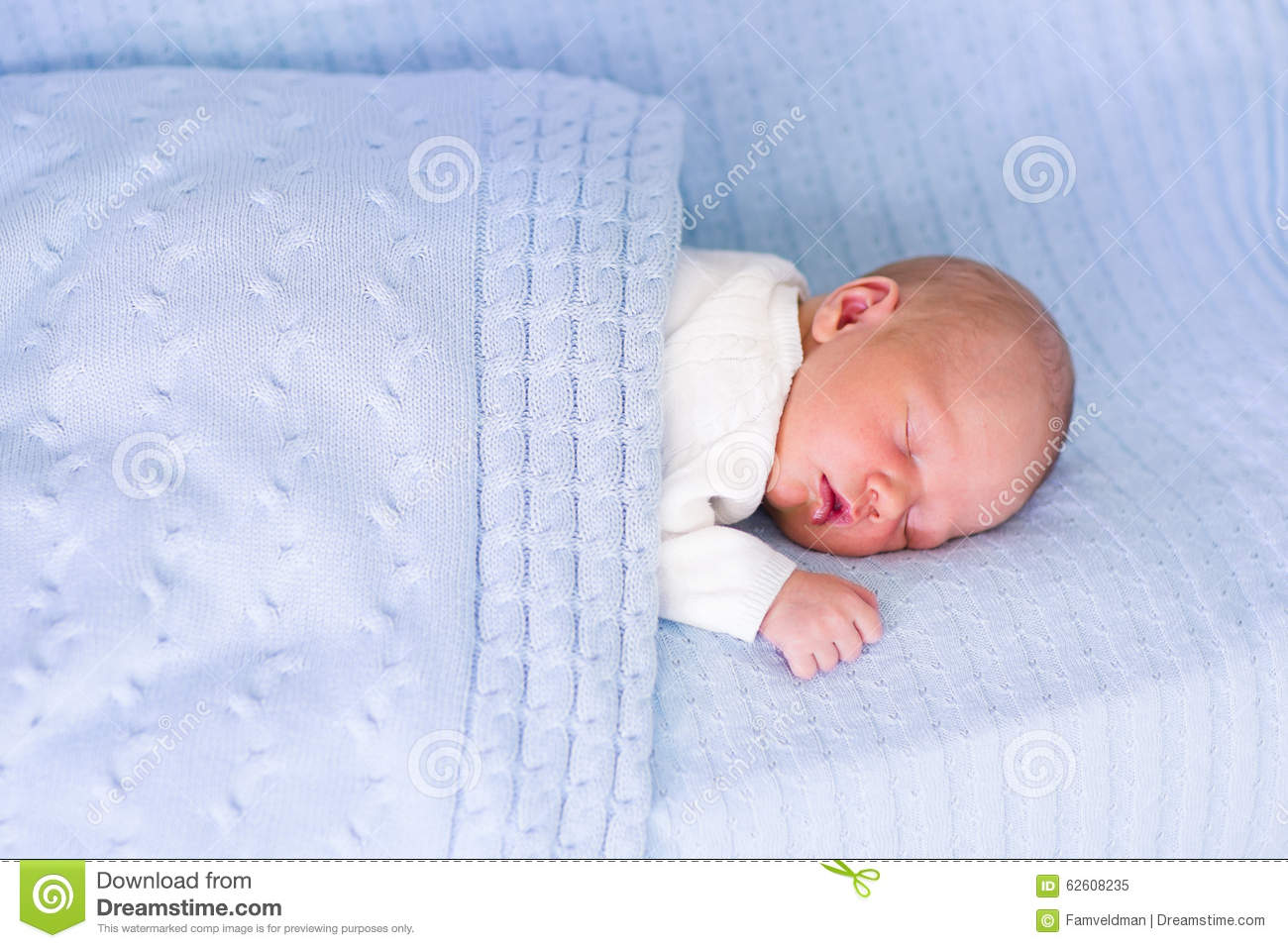 10077767a6e7 Newborn Baby Boy On A Blue Blanket Stock Image - Image of blue ...
