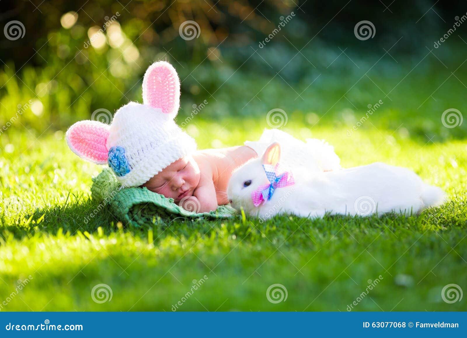Newborn Baby Boy Easter Bunny