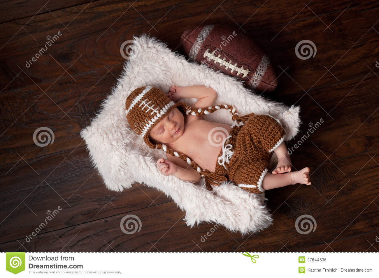 Newborn Baby Boy In Football Outfit Stock Photo Image Of Innocent Relax 37644636