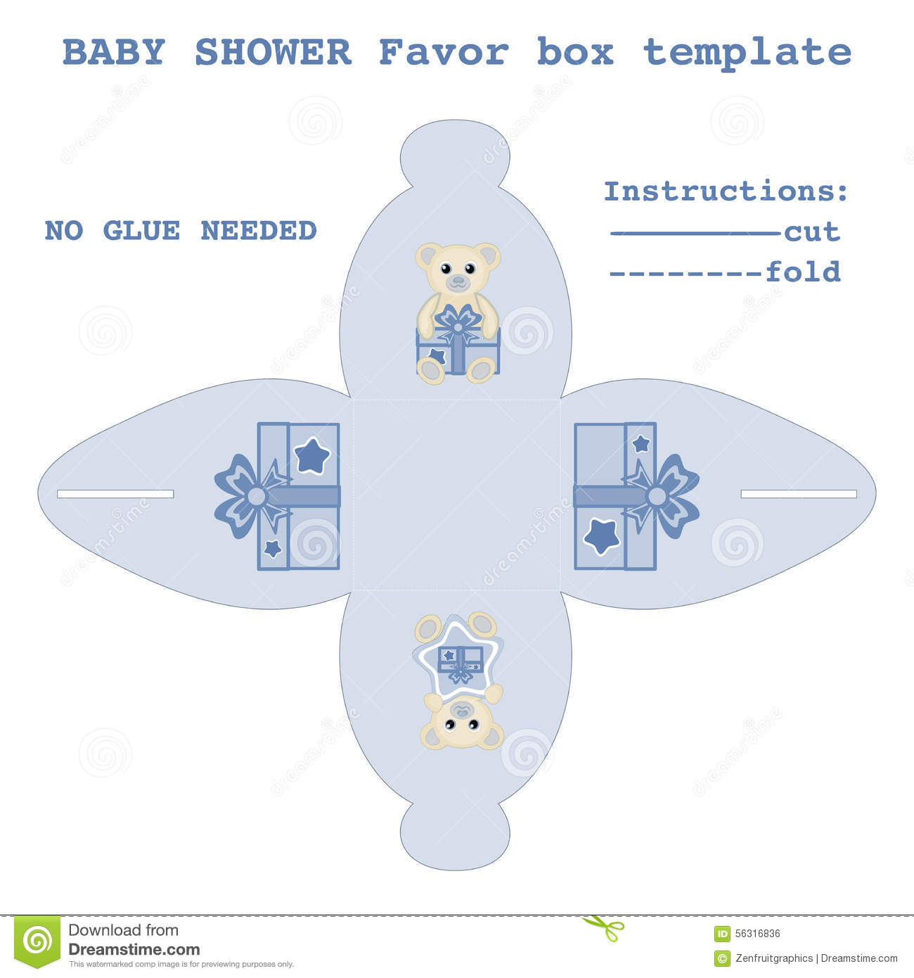 Diy baby shower favor boxes - Baby Box Boy Cut Design Diy Favor Gift Illustration Newborn Pattern Shower