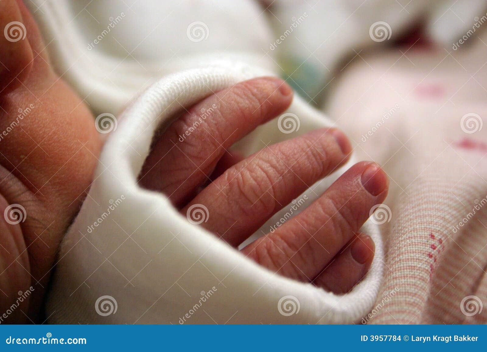 Newborn baby fingers stock photo. Image of hand, newborn ...