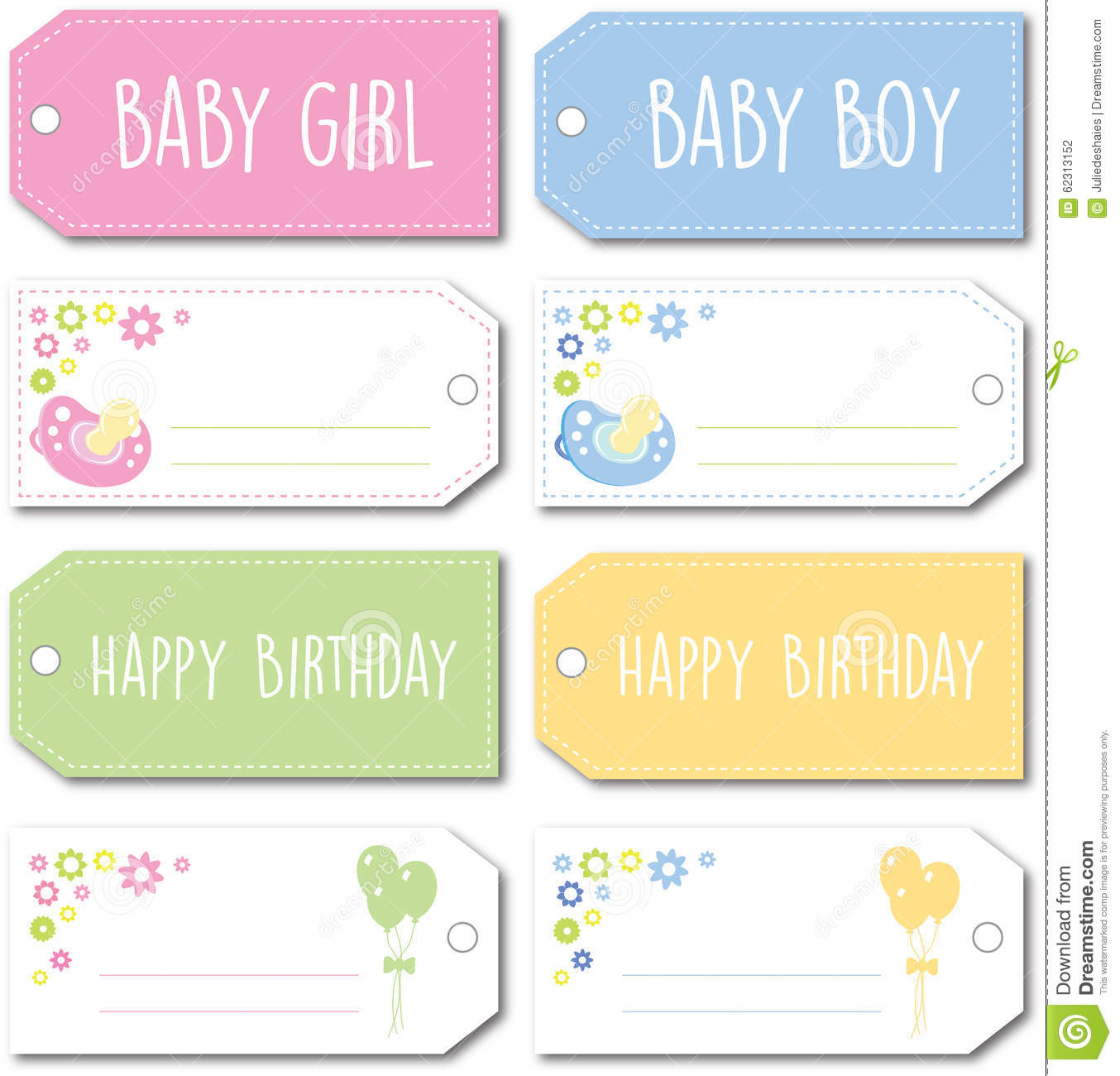 Baby Gift Vector : Newborn baby gift tag stock vector image of male girl