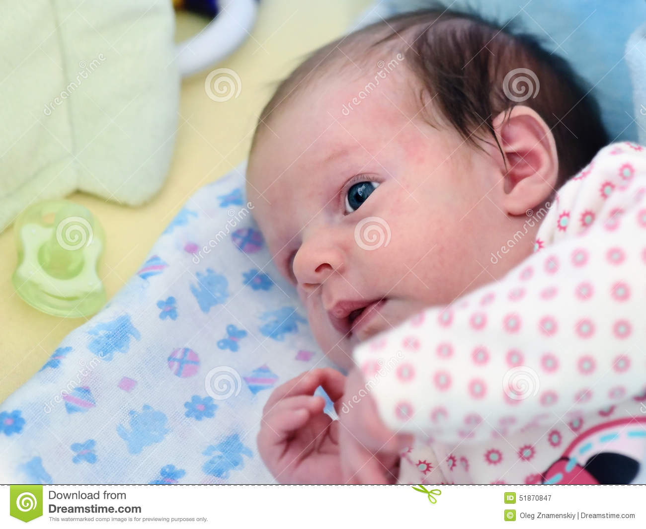 newborn baby girl stock image. image of closeup, mother - 51870847