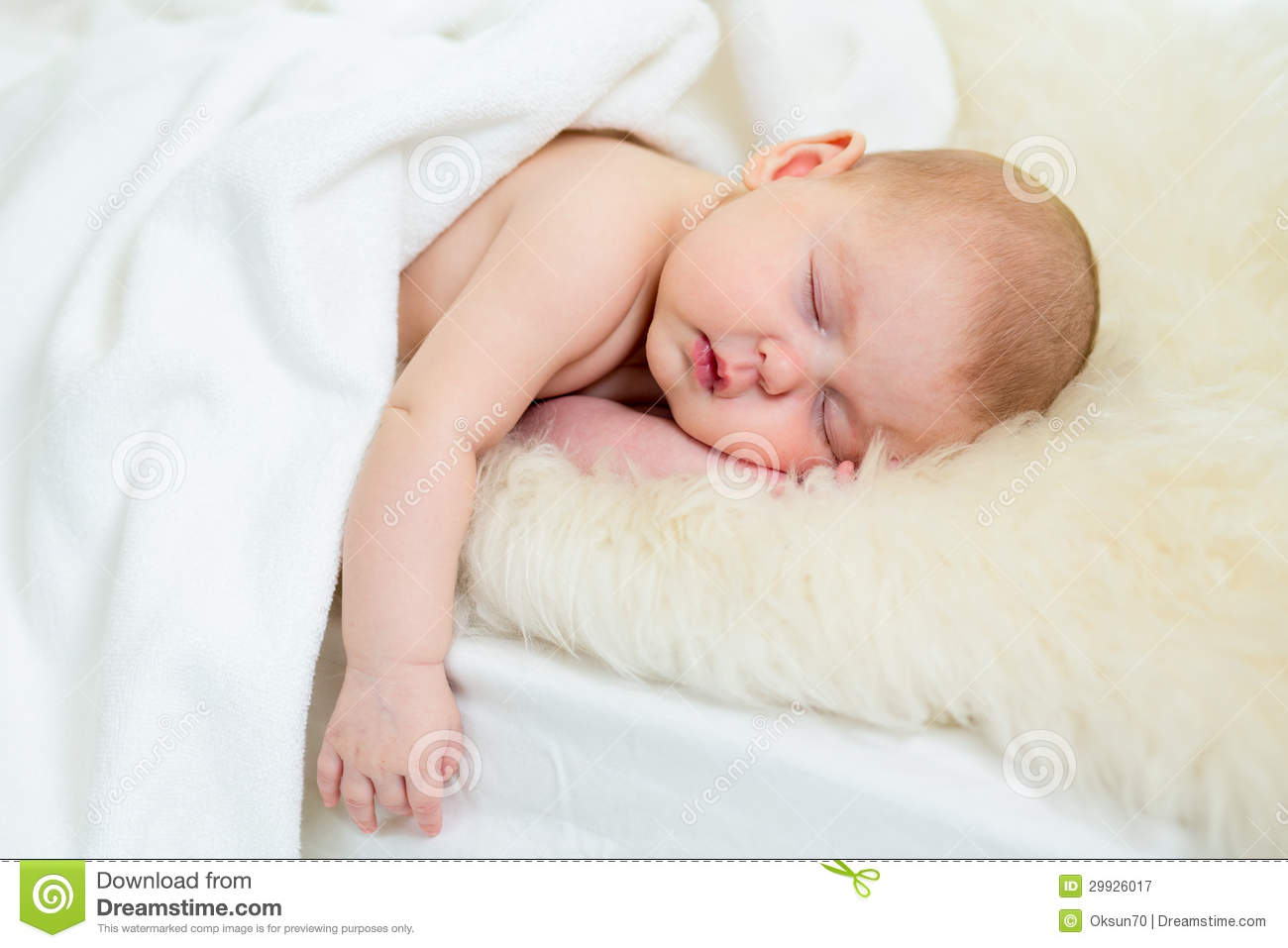 Newborn Baby Girl Sleeping Royalty Free Stock Photography ...
