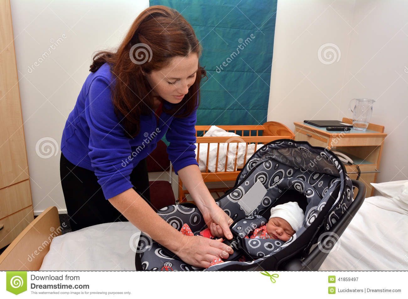 Newborn Baby Going Home From Hospital Stock Image Image