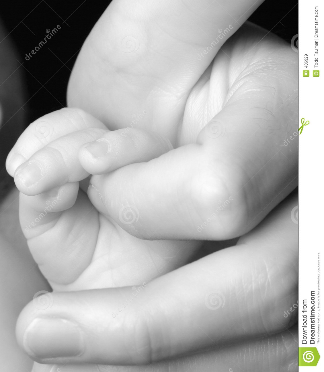 Download Newborn Baby Grasping Finger Stock Image - Image of finger, father: 406329