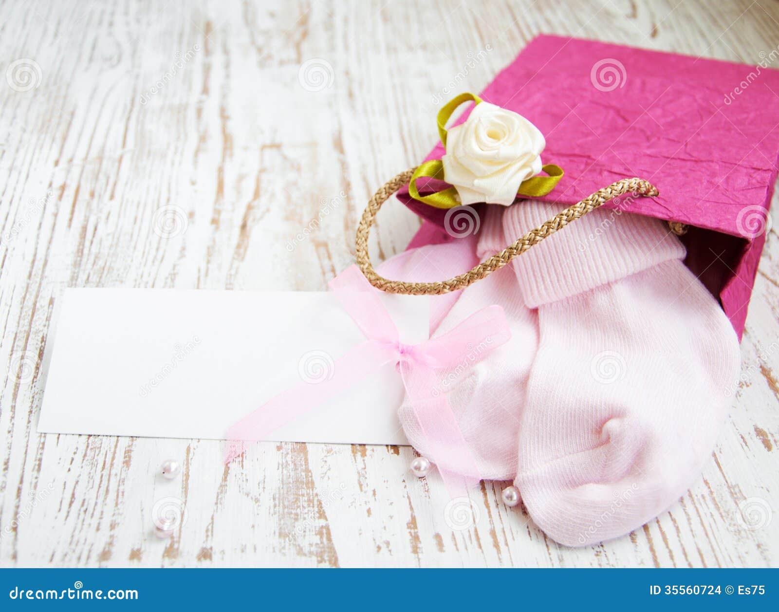 Newborn Baby Greeting Stock Photo Image Of Ribbon Lifestyle 35560724