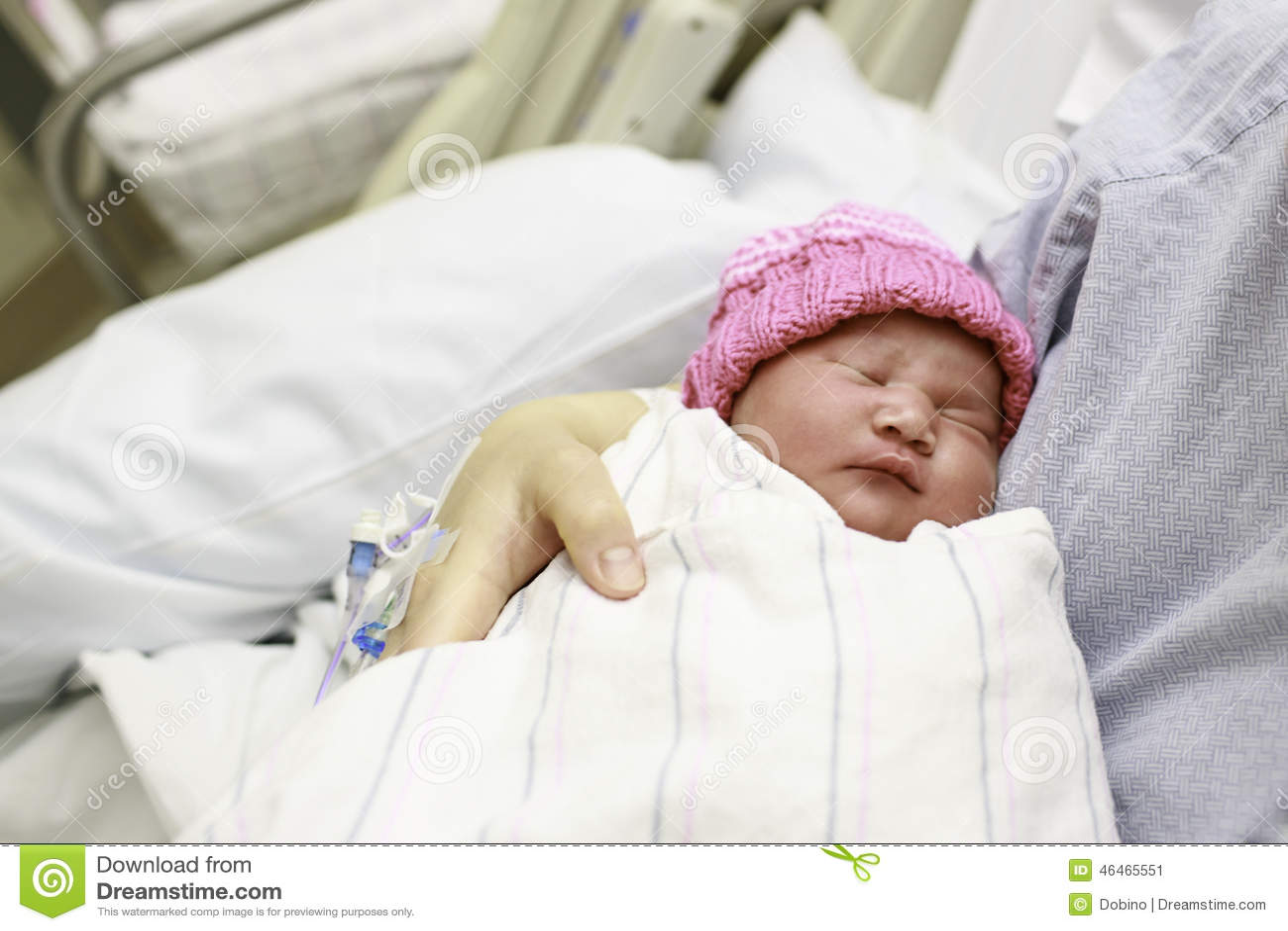Newborn Baby In The Hospital Stock Photo - Image: 46465551
