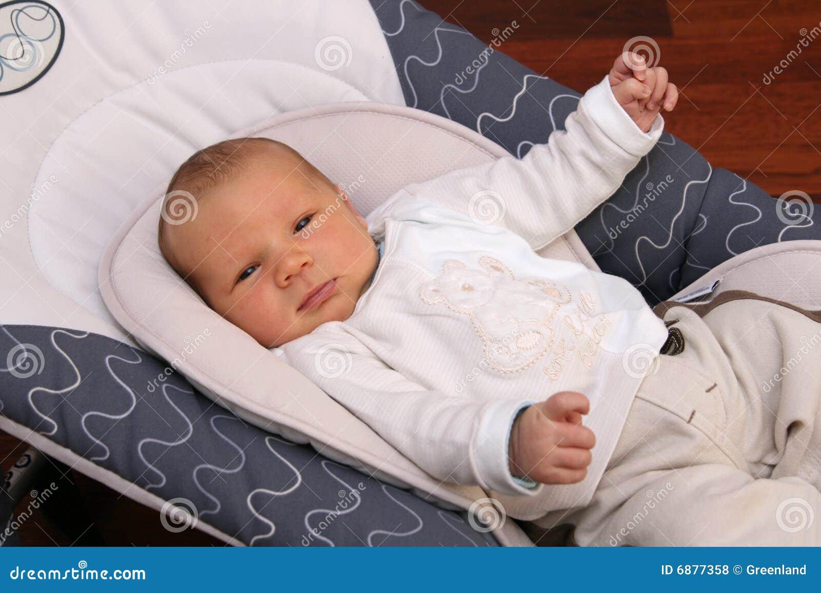 ca78c24b5828 Newborn Baby Lying In Bouncer Chair Stock Photo - Image of health ...