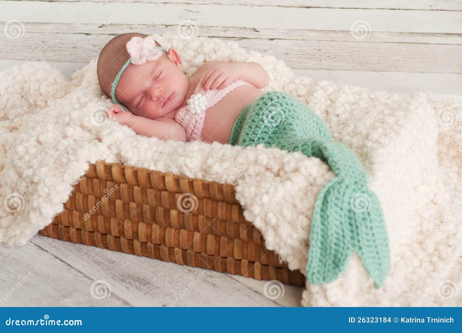Newborn Baby In Mermaid Costume Stock Images Image 26323184