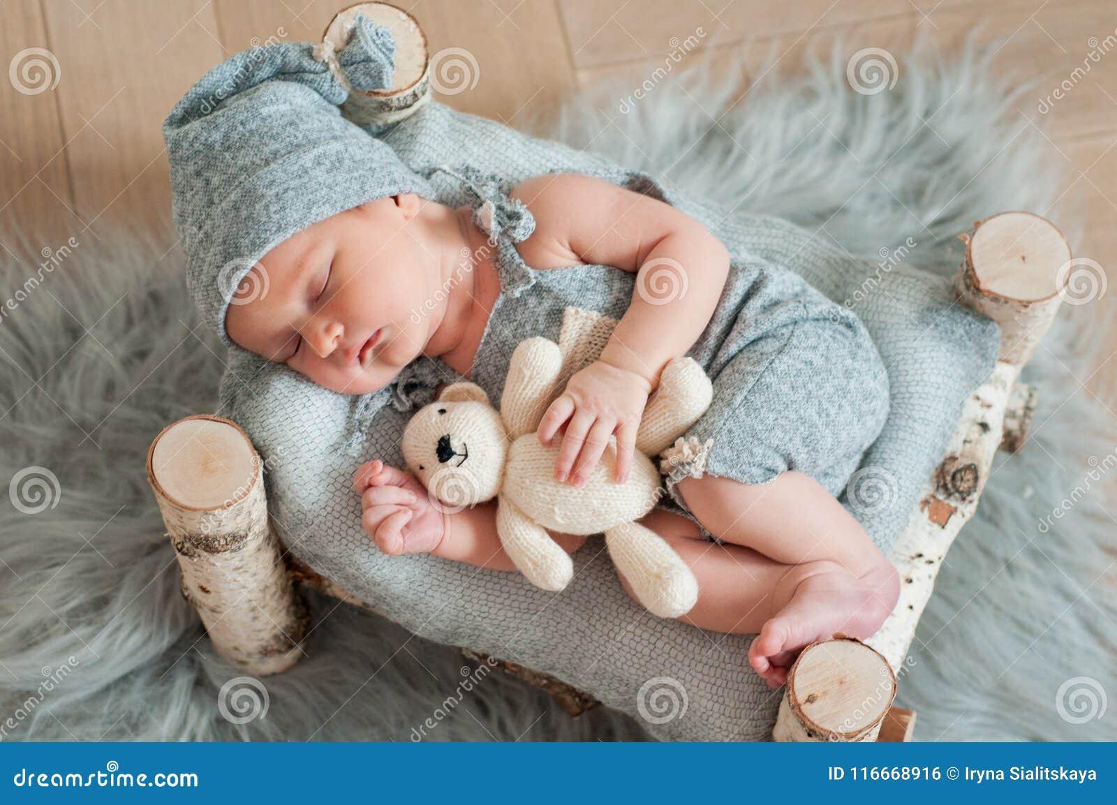Newborn Baby Asleep stock image. Image of caucasian, sleep