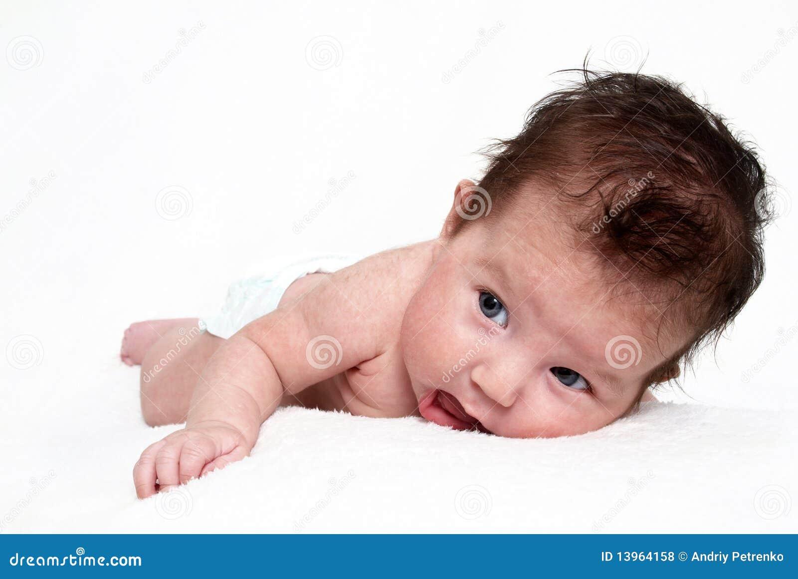 Newborn baby taken closeup