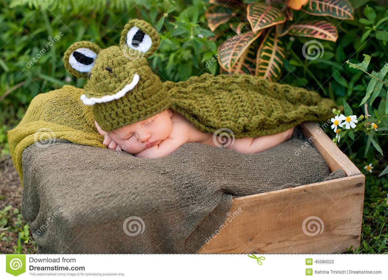 b9979acf09a2e Newborn Baby Wearing An Alligator Costume Stock Photo - Image of ...