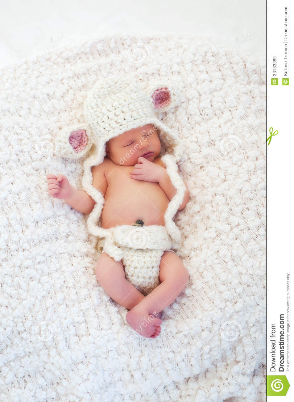 Newborn Baby Wearing A Lamb Costume Stock Image - Image of innocent ... b4d4a0fc3d3a