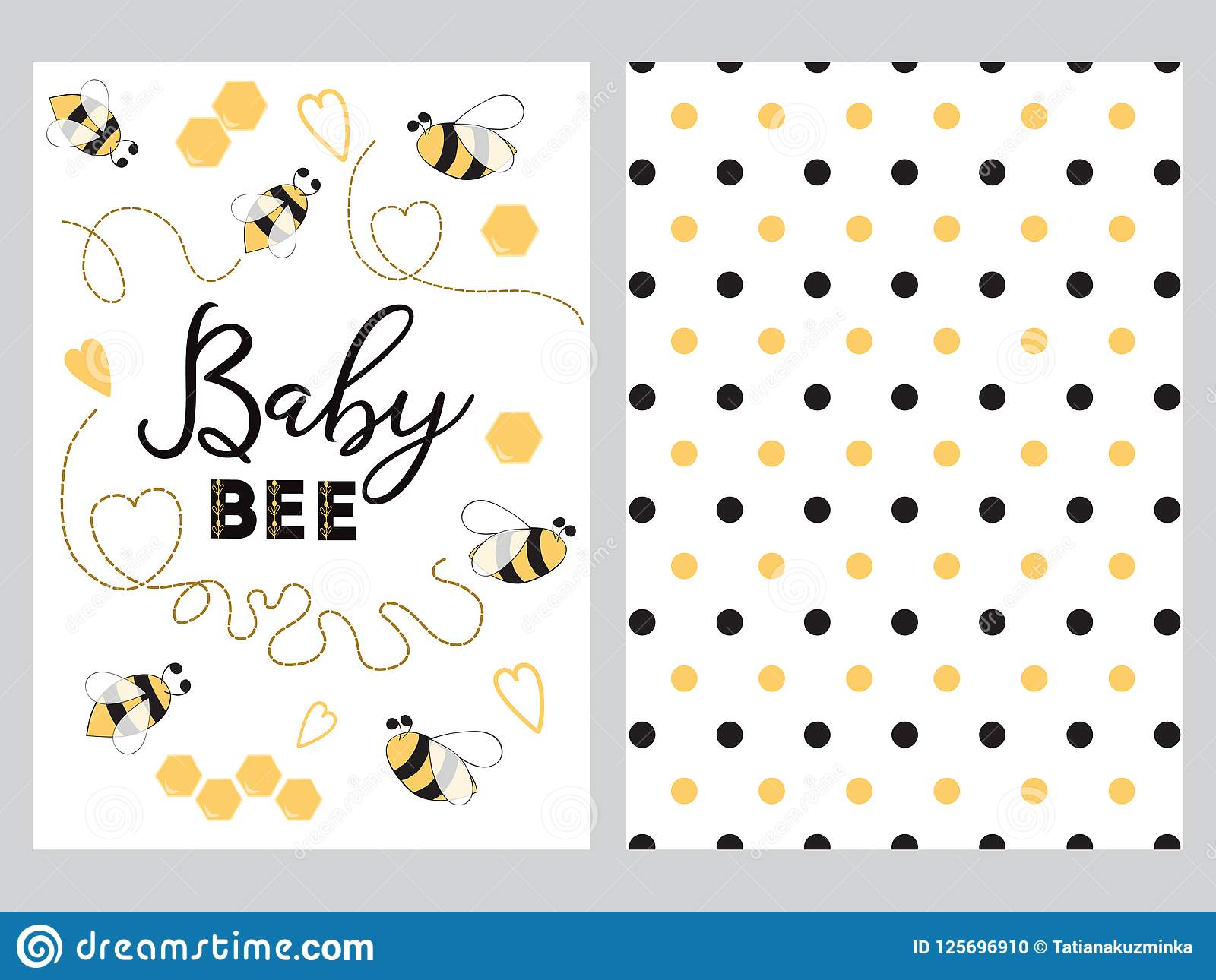 newborn banner design text baby bee decorated bee heart honey sweet
