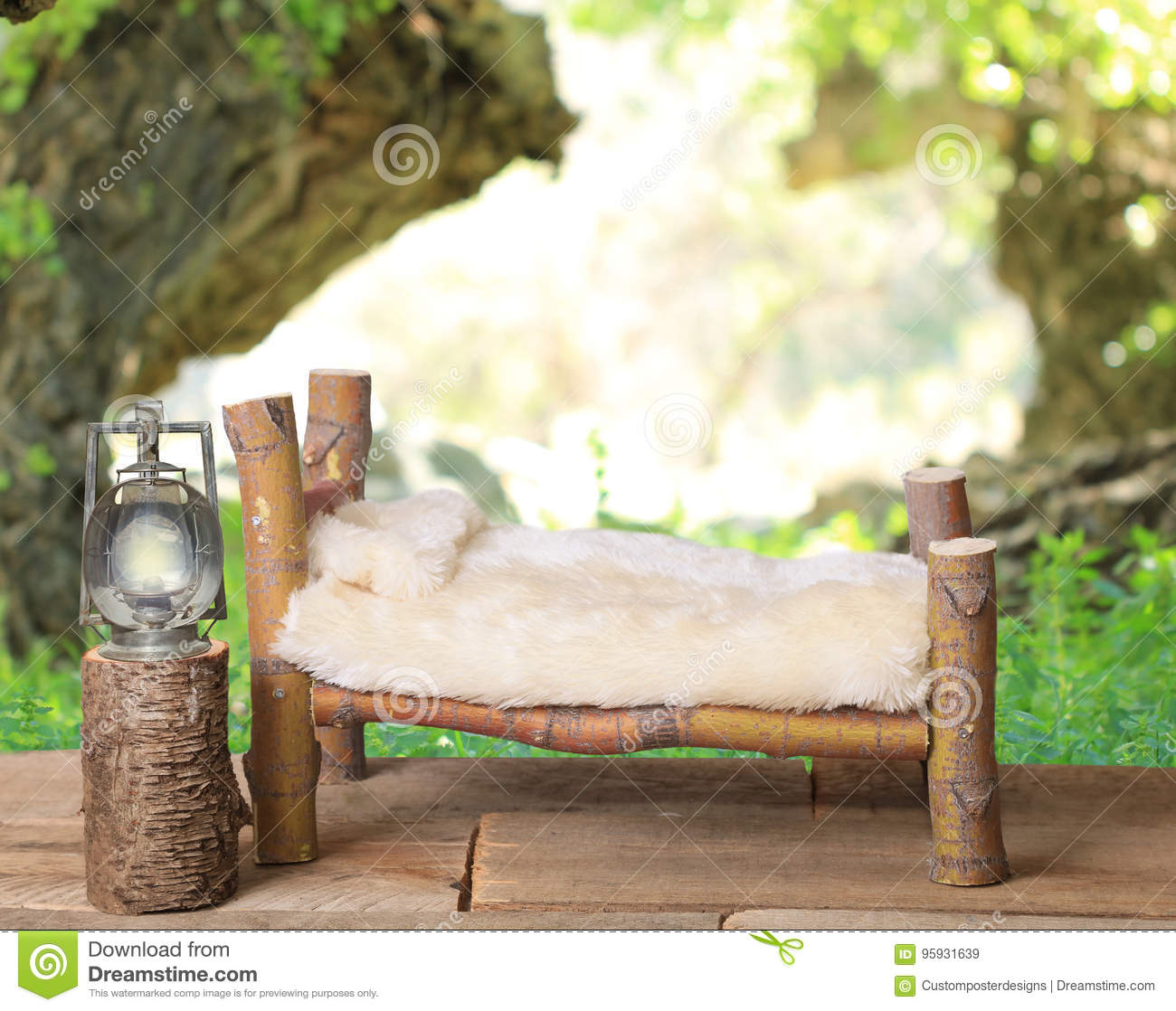 Download A Newborn Bed Studio Digital Prop Made From Japanese Maple Tree Branches With A Dandelion Green Meadow Nature Background. Stock Image - Image of handmade, branches: 95931639