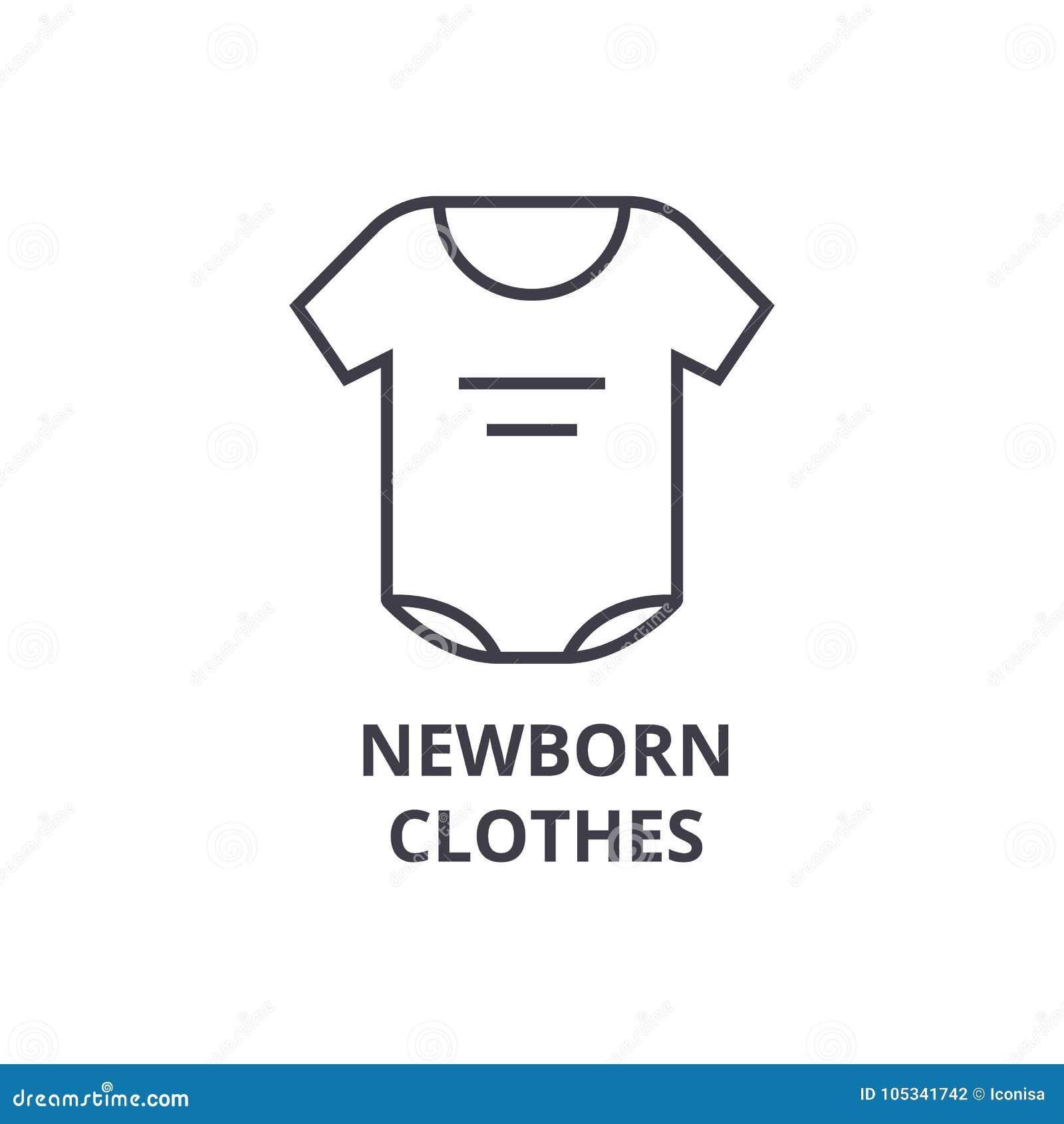 2a320063b13 Newborn Clothes Line Icon