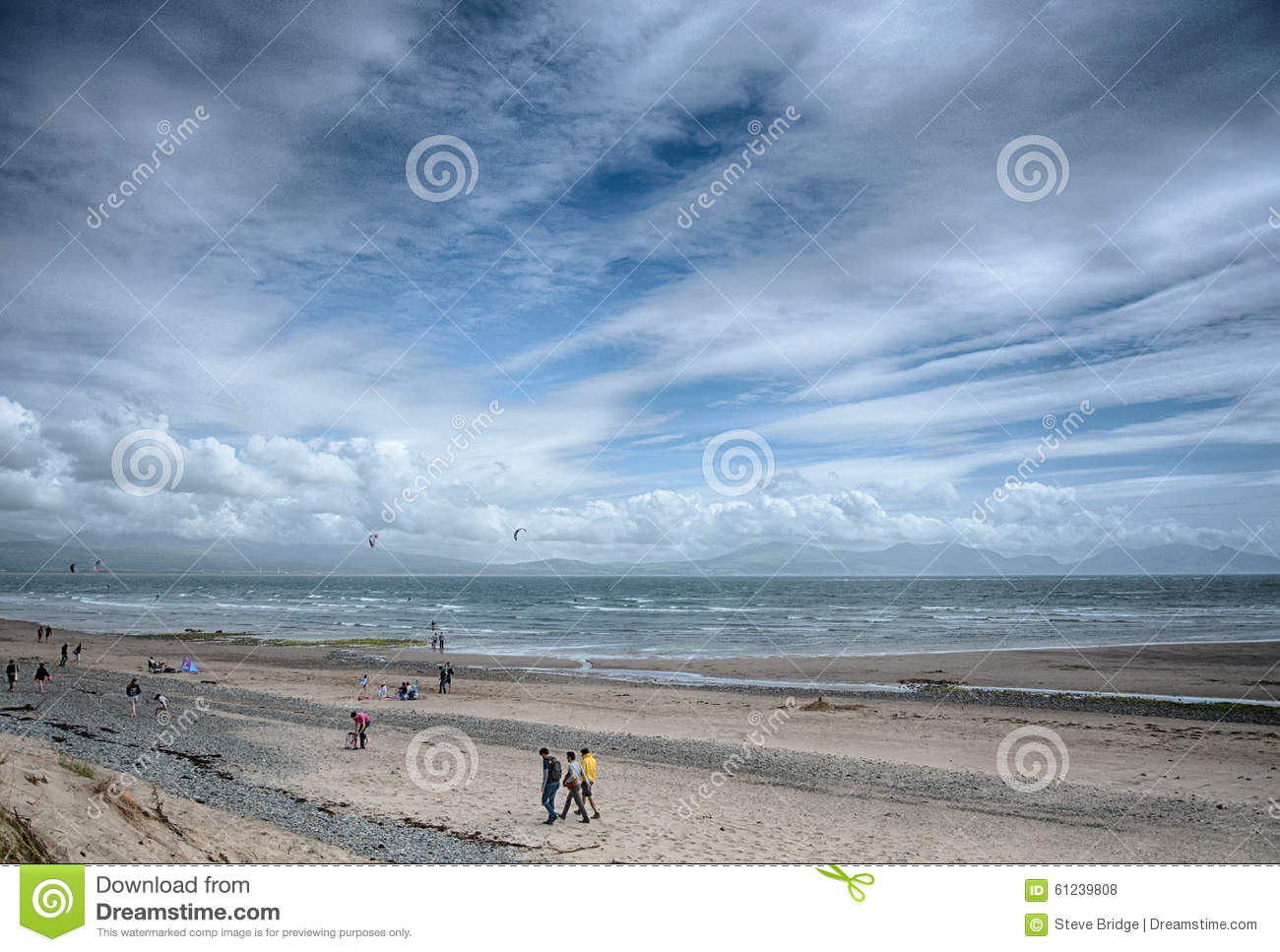 Newborough strand Angelsey norr Wales