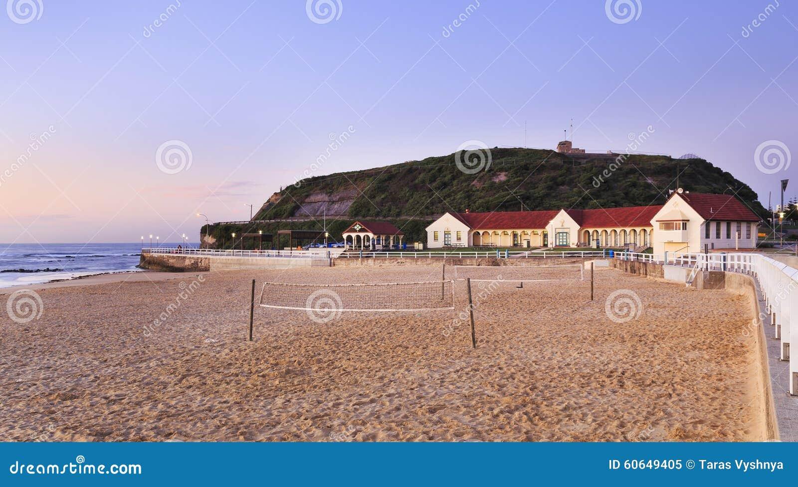 Newcastle beach baths stock photo image 60649405 for Beach house designs newcastle