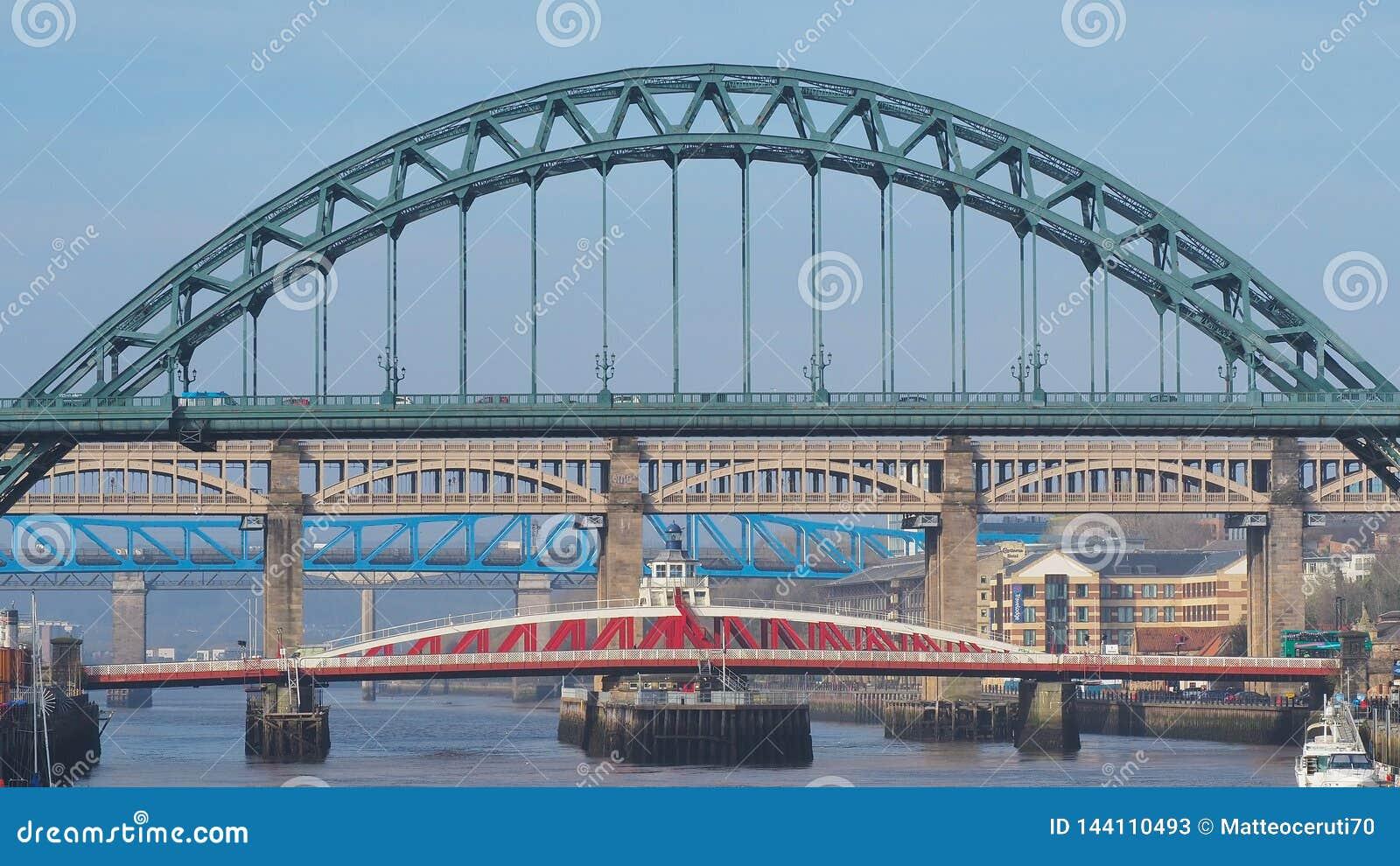 Newcastle Upon Tyne, England, United Kingdom. The Bridges ...
