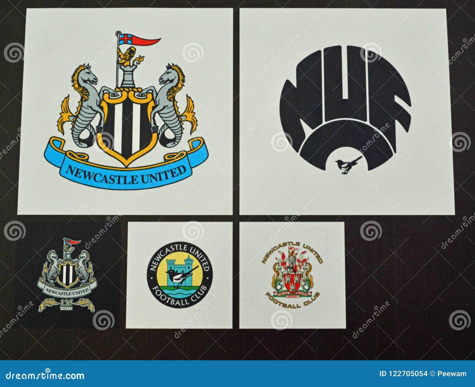 Newcastle United Football Club Badges Editorial Stock Image Image Of History United 122705054