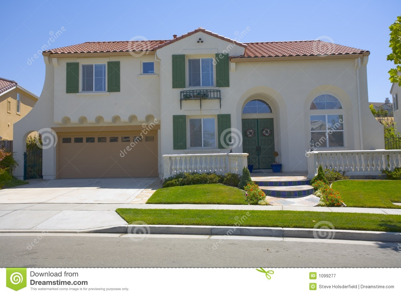Newer Stucco Two Story Home