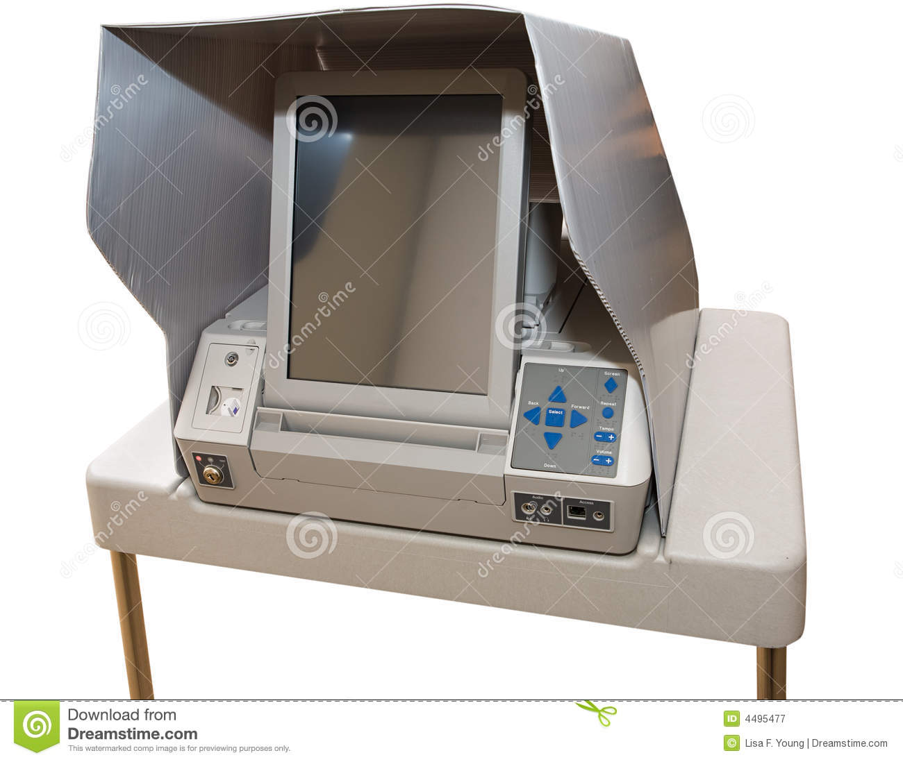 touch screen voting machine