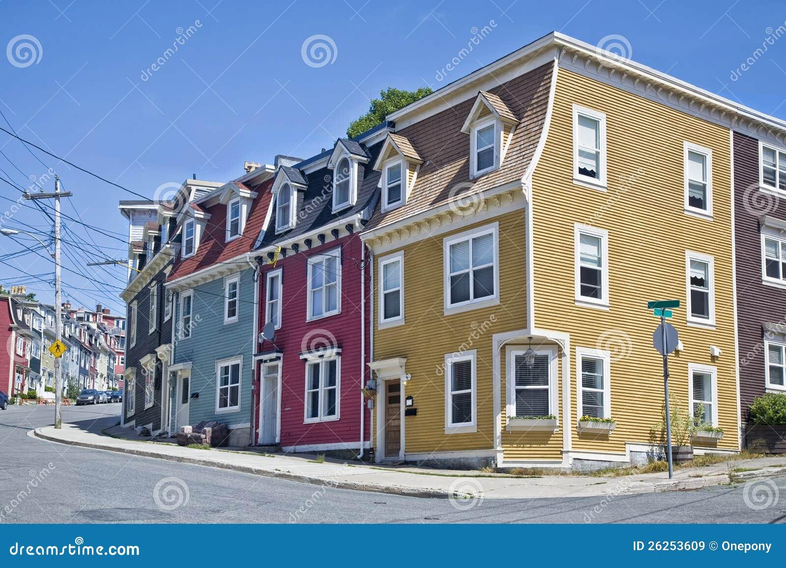 Newfoundland Houses Royalty Free Stock Images Image