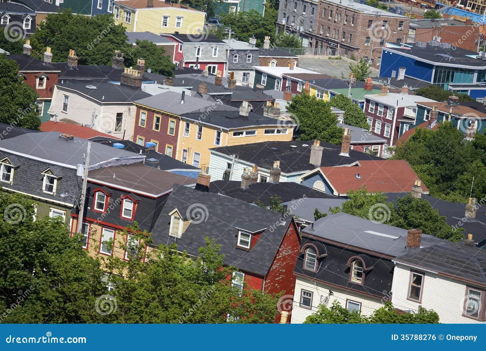 Newfoundland houses royalty free stock image image 35788276 for Newfoundland houses