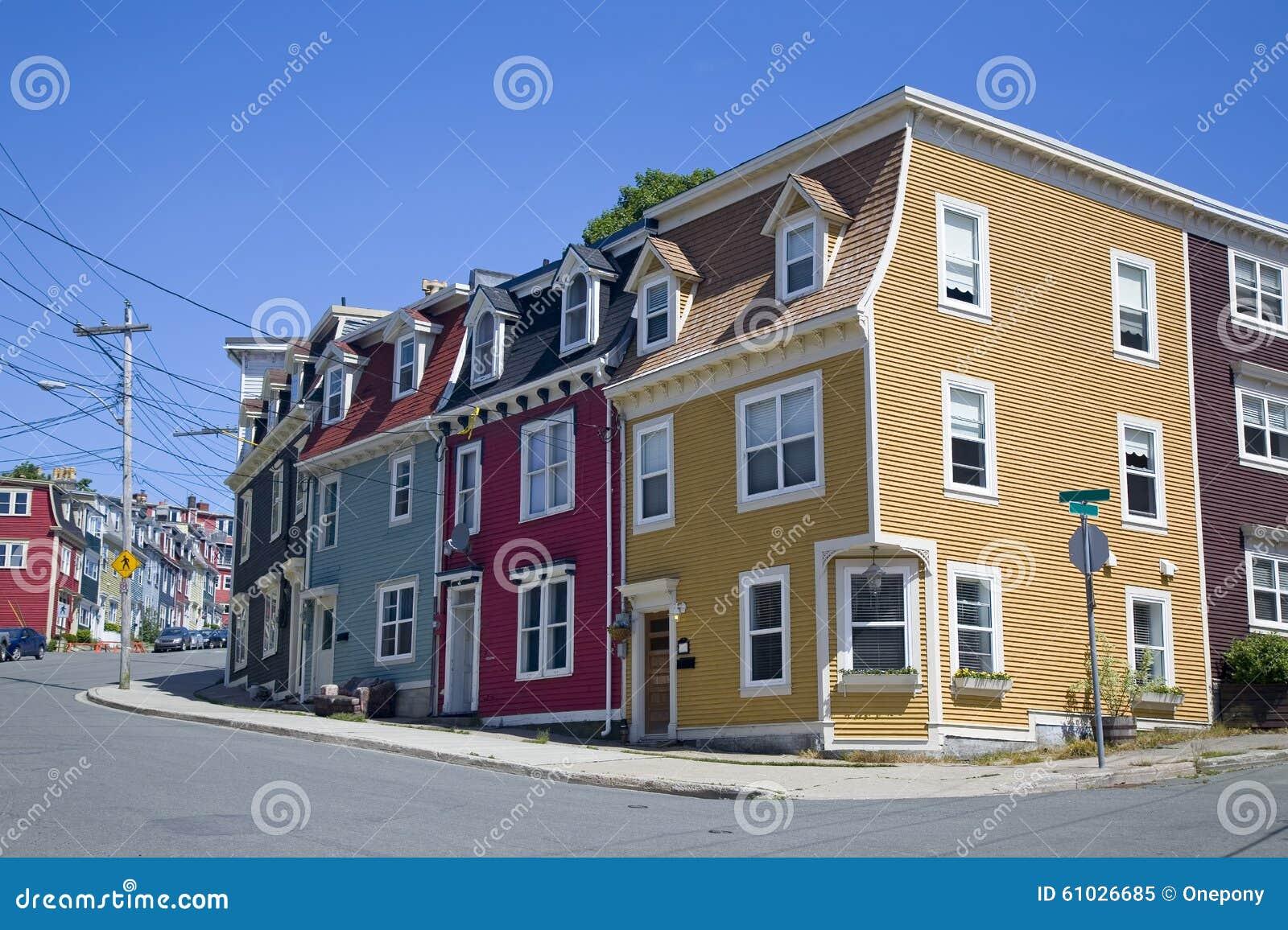 Newfoundland Houses Stock Photo Image 61026685