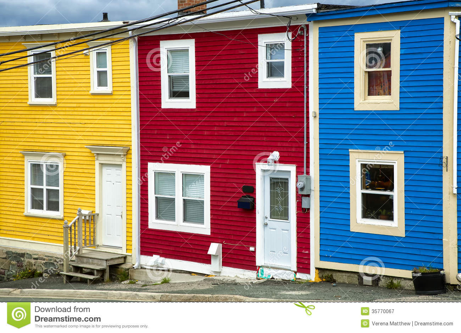 Newfoundland Houses Royalty Free Stock Photography Image