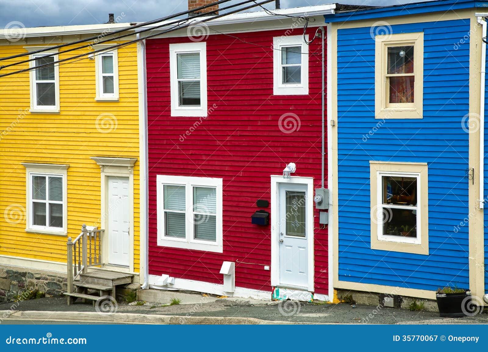 Newfoundland houses royalty free stock photography image for Newfoundland houses