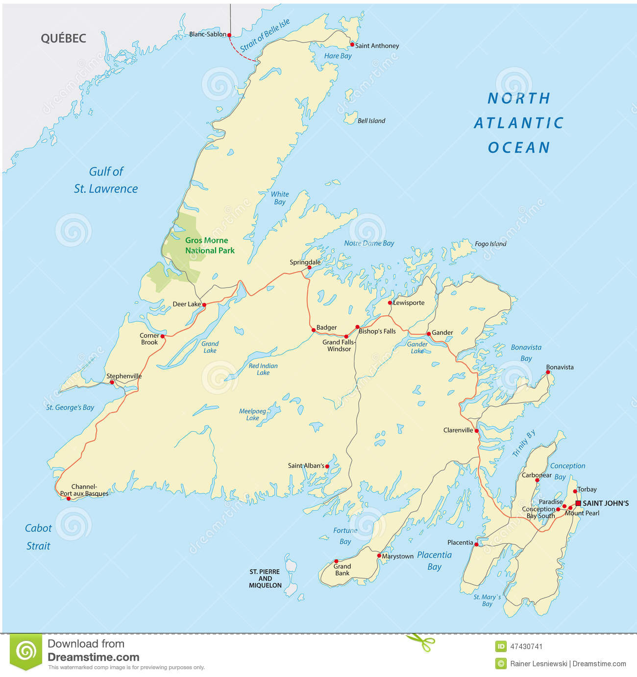 Detailed Map Of Newfoundland And Labrador Tidal Treasures - Map of newfoundland
